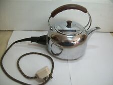 VINTAGE ELECTRIC G & E 60'S CHROME ON COPPER KETTLE. ALL WORKING ORDER