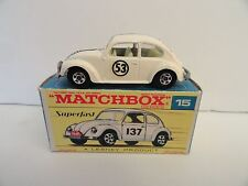 MATCHBOX LESNEY SUPERFAST #MB15a VOLKSWAGEN 1500 Herbie/Love Bug #53 Mint in Box