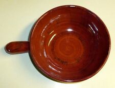 Umbriaverde Italian Rose Red Black Ceramiche Serve Bowl 8in Handle  Pottery