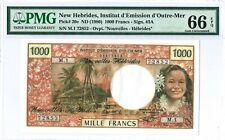 New Hebrides 1.000 Francs P20c 1980 PMG 66 EPQ s/n M.1 72852