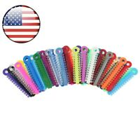 USA 1040 Pcs Dental Orthodontic Ligature Elastic Ties Multi Color USPS Shipment