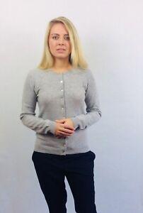 100%  Cashmere Cardigan Vast Land Grey BNWT Size 12 Warm Soft Present Luxury