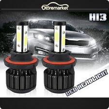 2PCS 4Side H13 9008 CREE Car LED Headlight bulbs High/Low Beam 6000K White Light
