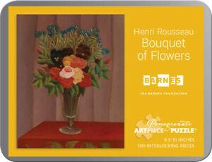 Artist Henri Rousseau Bouquet of Flowers Art Puzzle 100 Pieces 8x10 inches New!