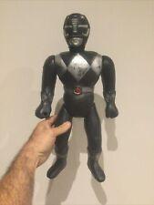 UBER RARE VTG HUGE HUMUNGOUS BLACK MIGHTY MORPHIN POWER  RANGERS PLASTIC BOOTLEG