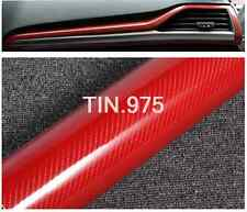 "12""x60"" 5D Premium High Shiny GLOSS Red Carbon Fiber Vinyl Wrap Air Free Release"