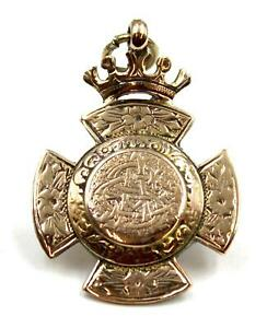 Excellent Antique 9ct Rose Gold Watch Fob, Birmingham 1863, 7.5 grams, Perfect