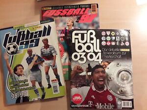 Panini Fussball Alben zum Ausschlachten Fussball 97, Fussball 99 und Fussball 03