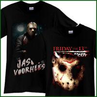 JASON VOORHEES Friday The 13th Horror Thriller Movie Black T-Shirt TShirt Tee