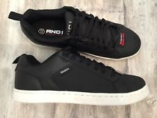 Mens Athletic Shoes BLACK AND1 COURTSIDE Memory Foam Footbed LACE UP Size 10.5