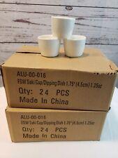 1.25 Oz Ceramic Sake Cups White Round Japanese Restaurants Sushi Bars 48 Pack