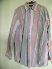Vintage Abercrombie & Finch la Gran Camisas Hombre de Manga Larga Talla XL