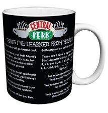 Friends Things I Learned (Central Perk Cafe Menu) TV Television Romantic Mug cup