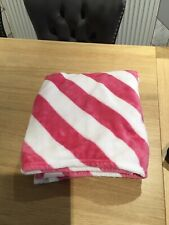 Kids Pink And White Fleece Blanket Primark 120 x 140cm
