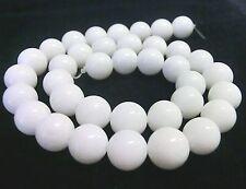 weiße Jade Kugeln Perlen rund 10mm 1 Strang