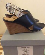 TRENERY -Cross Strap Wedge RRP Brand Size 38 in black