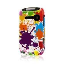 MPERO SNAPZ Series Glossy Case for Kyocera Coast / Kona - White Paint Splatter