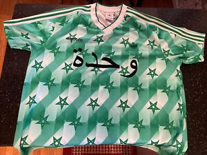 Morocco Danketsu Retro Mens Size 2XL Green Adidas Soccer Jersey