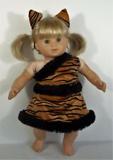 "Halloween costume outfit skirt headband for 15"" American Girl Bitty Baby doll"