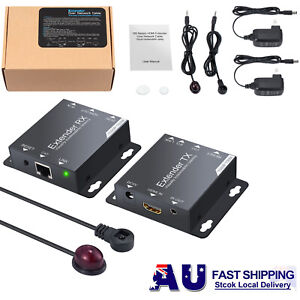 150M 1080P HDMI Extender Repeater Network RJ45 Cat6/Cat6a/Cat7 Cable IR Remote