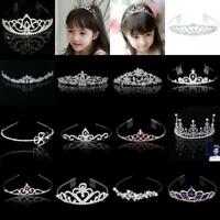 Wedding Women Bridal Crystal Headband Flower Girl Tiara Crown Headpiece Jewelry