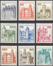 Germany 1977 German Castles/Buildings/Architecture/History/Heritage 9v (n28594)