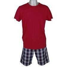 JOCKEY Herren Schlafanzug kurz Pyjama Jersey Bermuda Webhose Baumwolle Gr 50 / M