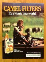 1981 Camel Cigarettes Filters Vintage Print Ad/Poster Pop Art Man Cave Decor