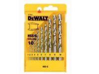 SET 10 PUNTE HSS-G (DIN 338)  DEWALT DT5921-QZ
