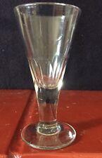 Vintage Victorian Thumb Cut Glass Dram Glass