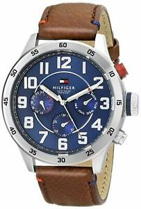Tommy Hilfiger Original 1791066 Men's Brown Leather Watch 46mm