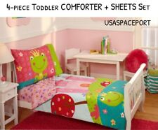 4-piece FAIRYTALE Princess Castle Toddler Bed-in-a-Bag COMFORTER+SHEETS Set Crib