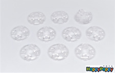 Lego 10x Platte rund 2x2 Transparent Trans-Clear Plate Round 2654 Neuware / New