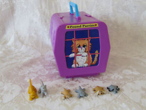 Vintage Pound Puppies Purries Mini Playset Pet Paradise Alley 1995 Galoob