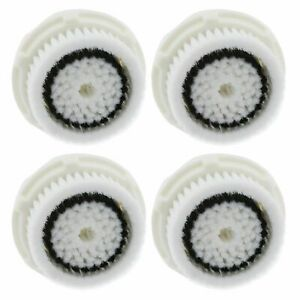 4 Pack Sensitive Skin Facial cleansing brush heads for ClariSonic MIA 1 2 3 PRO