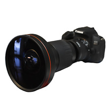 HD 240° WIDE ANGLE FISHEYE LENS FOR CANON EOS REBEL SL1 1300D T6 T5 6D 60D 80D