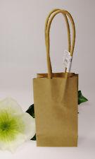 4 Geschenktüten klein, braun 17,5cm, Knorr Prandel, verpacken, bemalen, stempeln