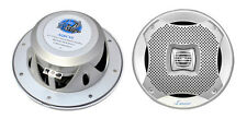 Lanzar AQ6CXS Pair 400 Watts 6.5'' 2-Way Marine Speakers (Silver Color)