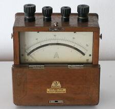Vintage German Ammeter Excelsior-Werk Rudolf Kiesewetter Wooden Case
