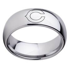 Chicago Bears Team Stainless Steel Silver Ring Band Gifts Size 6-13