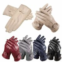 Women's Ladies Genuine Lambskin Leather Gloves Winter Warm Driving Soft Lining