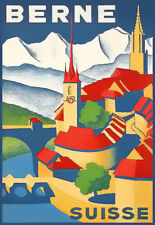 Berne Suisse Swiss Travel Holiday Vacation  Deco  Poster Print