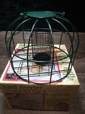 Bird Feeder w/ Protective Metal Cage from Squirrels, Rodents, Predator Birds