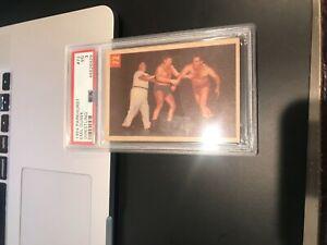 PSA 3 VG- GRADED 1955 PARKHURST WRESTLING #17 EMIL DUSEK VINTAGE MMA