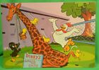 1950s Terry Toons Dinky Duck Frame Tray Puzzle Chute The Chute Giraffe Slide