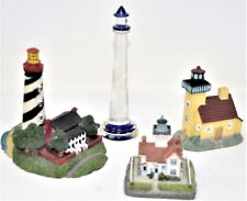 Lot 4 Collectible Lighthouses Blown Glass St. Augustine Copper Harbor Pt. Fermin