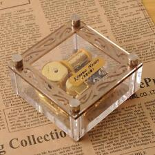 ACRYLIC CUBIC GOLD WIND UP MUSIC BOX : ♫ ALL OF ME ( JOHN LEGEND ) ♫