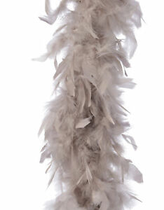 Mink Taupe Beige Feather Boa Christmas Garland Christmas Tree Decoration 184cm