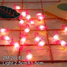 2M 20LED Flamingo String Light Kids Birthday Party Kit Wedding Supply Decoration