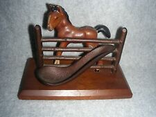Vintage Horse Colt at Fence Pipe Rest Stand Cradle Holder (Free Shipping)